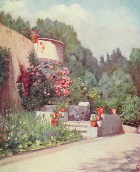 Naples, Painted and Described - A Terrace in the Villa Rosebery (1904)