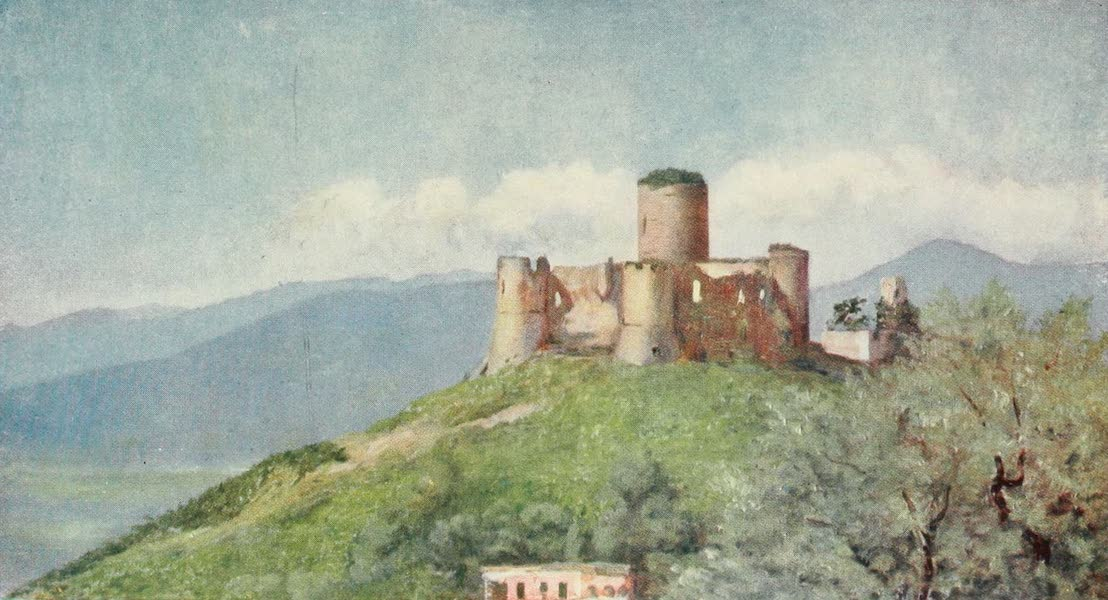 Naples, Painted and Described - Ruined Castle of Lattere on the Hills above Gragnano (1904)