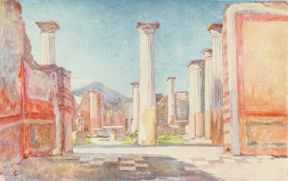 Naples, Painted and Described - House of Olconius, Pompeii (1904)