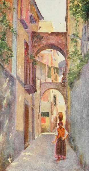 Naples, Painted and Described - Street Scene in Sorrento (1904)