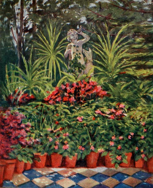 Naples, Painted and Described - In the Grounds of Marion Crawford's Villa, Sorrento (1904)
