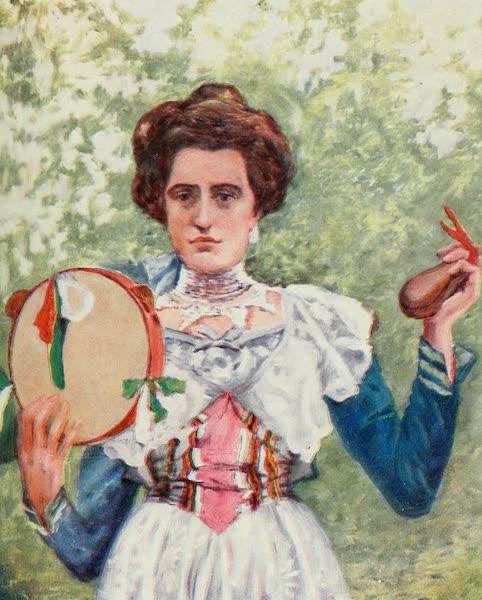 Naples, Painted and Described - Portrait of Tarantella Dancer with Castanets (1904)