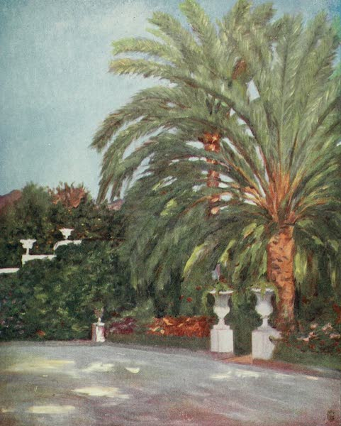 Naples, Painted and Described - Garden of the Princess Gortchakovv's Villa at Sorrento (1904)