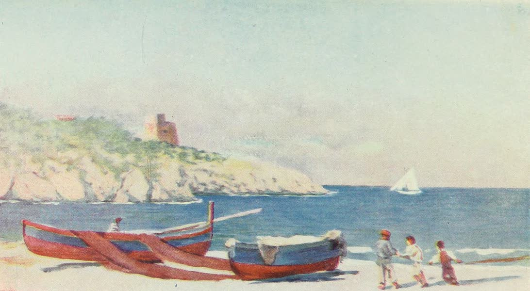 Naples, Painted and Described - Beach of the Fishing Village of Puolo (1904)