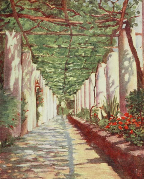 Naples, Painted and Described - Terrace of the Cappucini Hotel, Amalfi (1904)