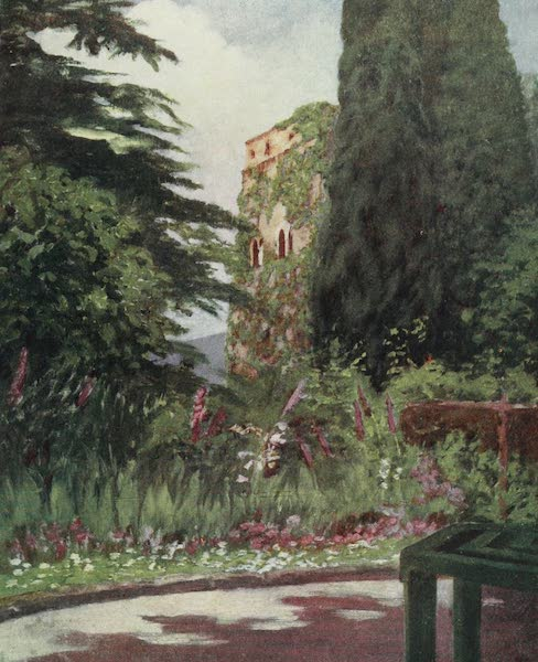 Naples, Painted and Described - Garden of the Palazzo Ruffolo, Ravello (1904)