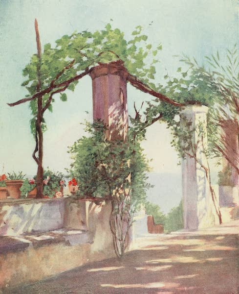 Naples, Painted and Described - Terrace of the Palazzo Ruffolo, Ravello (1904)