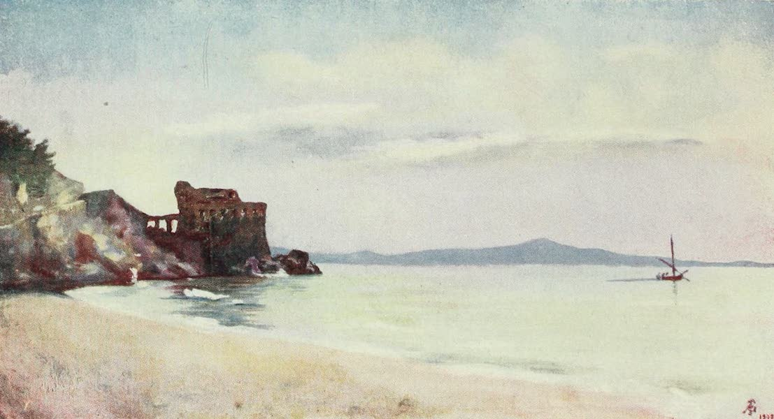 Naples, Painted and Described - Old Tower on the Shore of Maiori (1904)