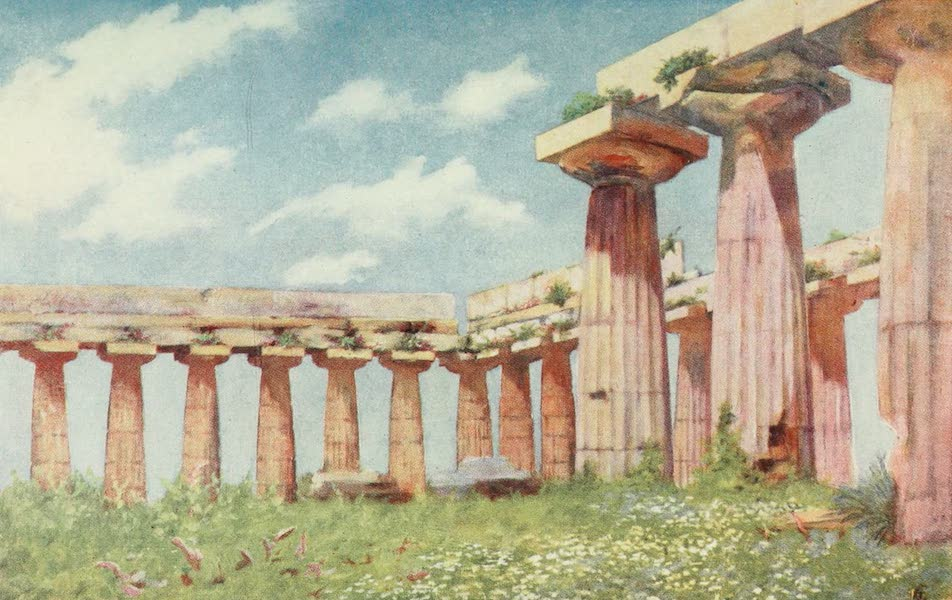 Naples, Painted and Described - Basilica of Paestum (1904)
