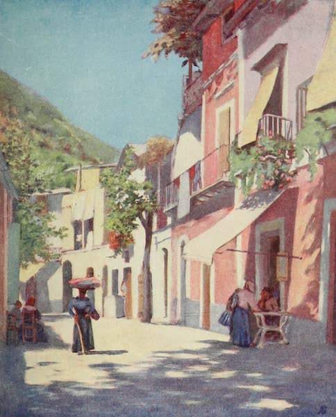 Naples, Painted and Described - A Street in Casamicciola, Ischia (1904)