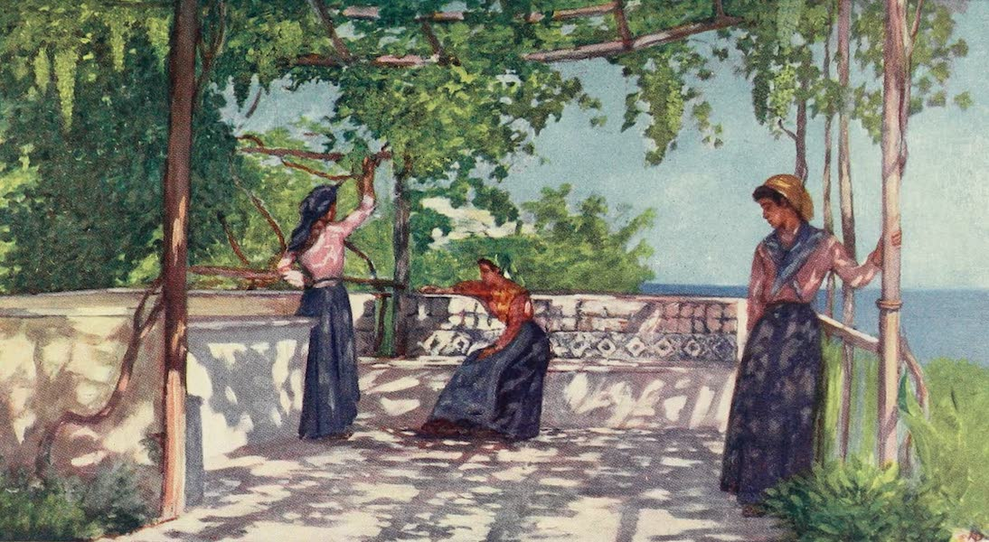 Naples, Painted and Described - Peasants under the Vines, Casamicciola, Ischia (1904)