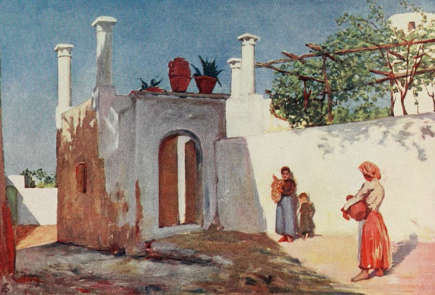 Naples, Painted and Described - Village Road of Caprili, Capri (1904)