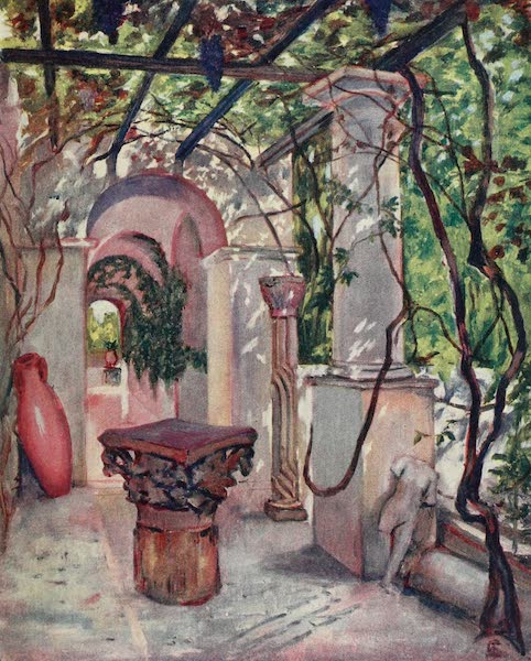 Naples, Painted and Described - In the Villa Munthe, Anacapri (1904)