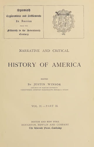 New World - Narrative and Critical History of America Vol. 2, Pt. 2