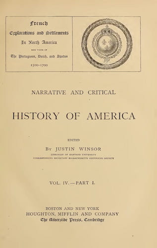 New World - Narrative and Critical History of America Vol. 4, Pt. 1