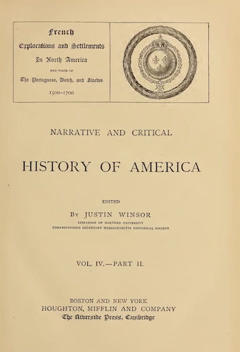 New World - Narrative and Critical History of America Vol. 4, Pt. 2