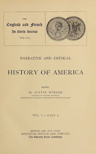 New World - Narrative and Critical History of America Vol. 5, Pt. 1
