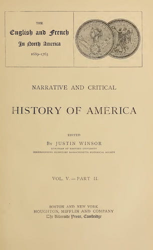 New World - Narrative and Critical History of America Vol. 5, Pt. 2