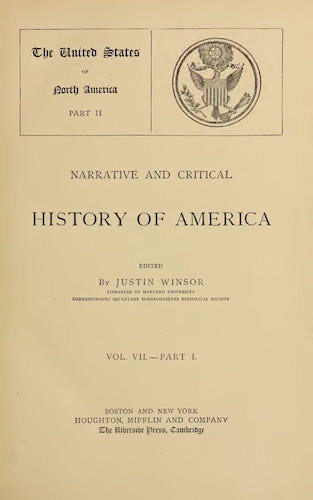 New World - Narrative and Critical History of America Vol. 7, Pt. 1
