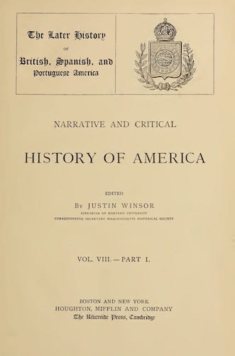 New World - Narrative and Critical History of America Vol. 8, Pt. 1