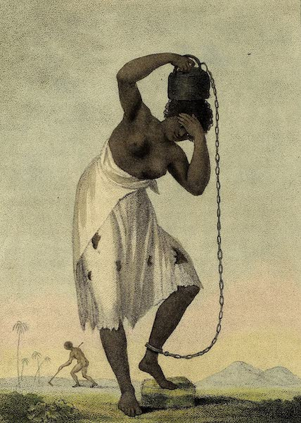 A Female Negro Slave, with a Weight chained to her Ancle