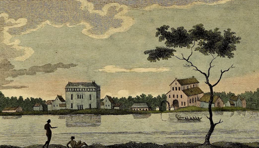 View of the Estate Alkmaar, on the River Commewine