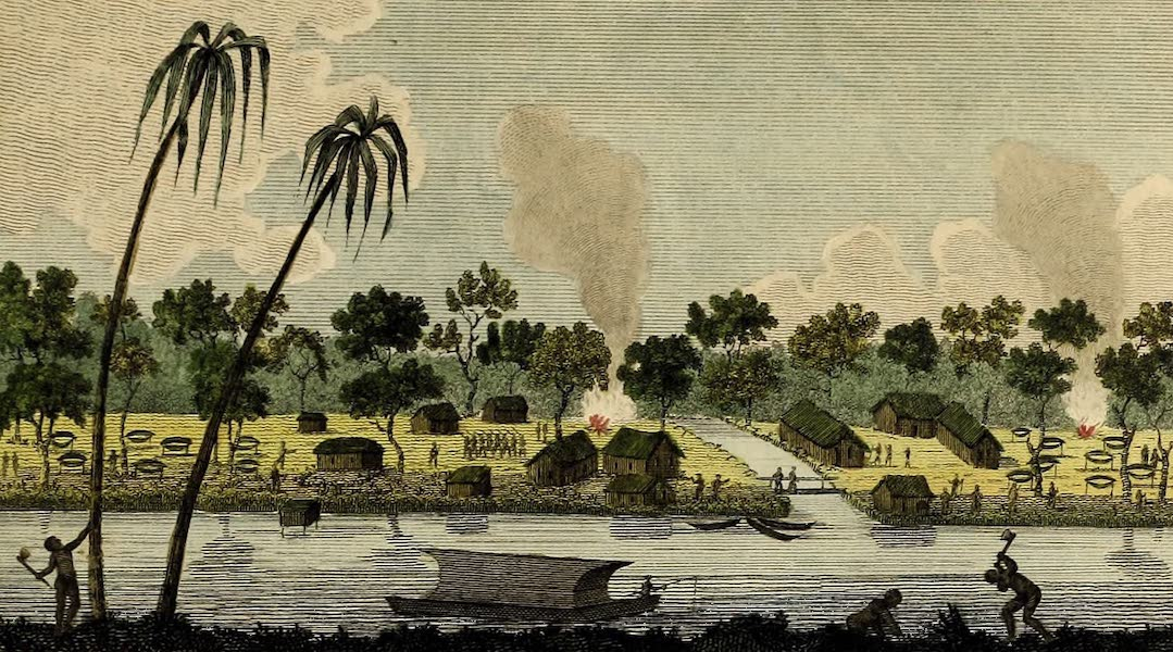 Narrative, of a Five Years Expedition Vol. 2 - View of the Camp at the Java Creek (1796)