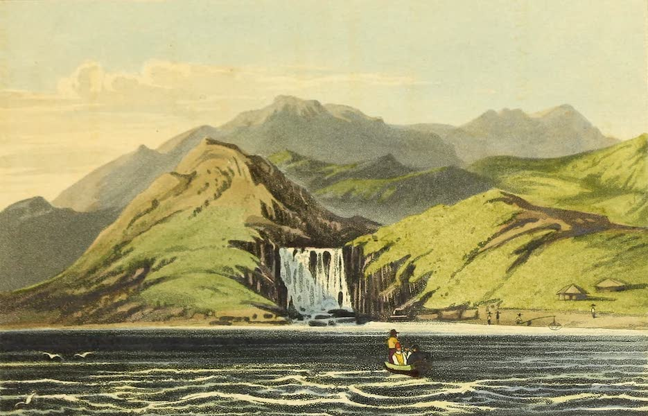 Narrative of a Journey in the Interior of China - The Waterfall at Hong Cong (1818)