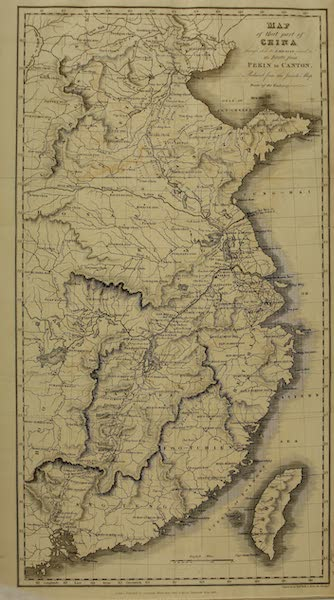 Narrative of a Journey in the Interior of China - Map of that part of China (1818)