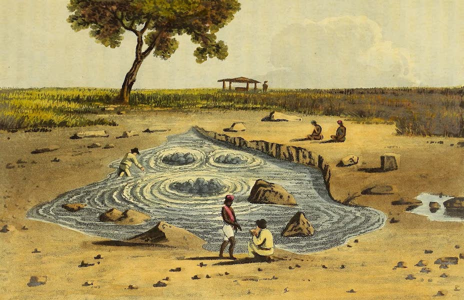 Narrative of a Journey in the Interior of China - View of the Central Spring at Epetan in Java (1818)