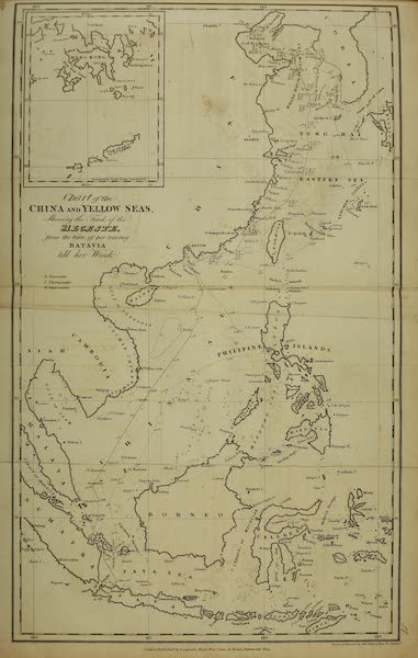 Narrative of a Journey in the Interior of China - Chart of the China and Yellow Seas (1818)