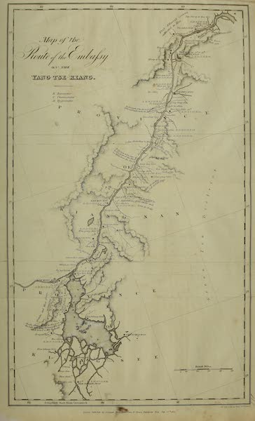 Narrative of a Journey in the Interior of China - Map of the Route of the Embassy (1818)