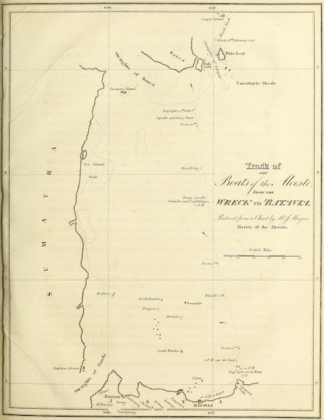 Narrative of a Journey in the Interior of China - Track of the Boats of the Alceste (1818)