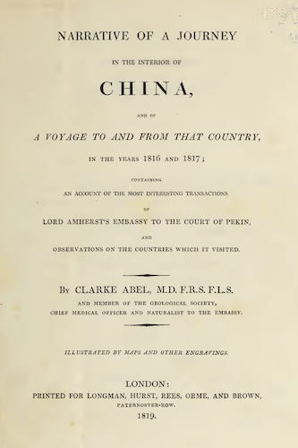 English - Narrative of a Journey in the Interior of China