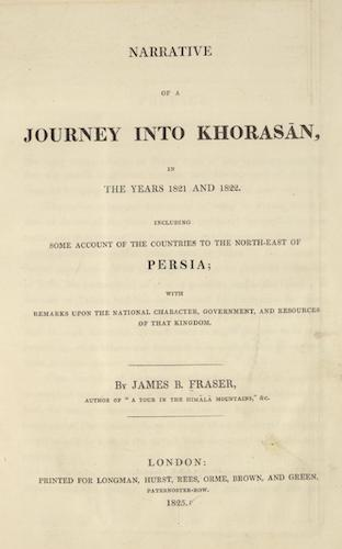 English - Narrative of a Journey into Khorasan