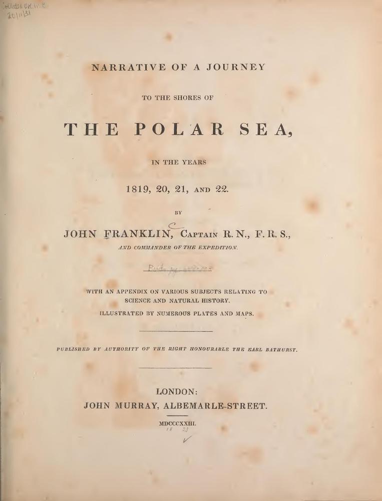 Biodiversity Heritage Library - Narrative of a Journey to the Shores of the Polar Sea