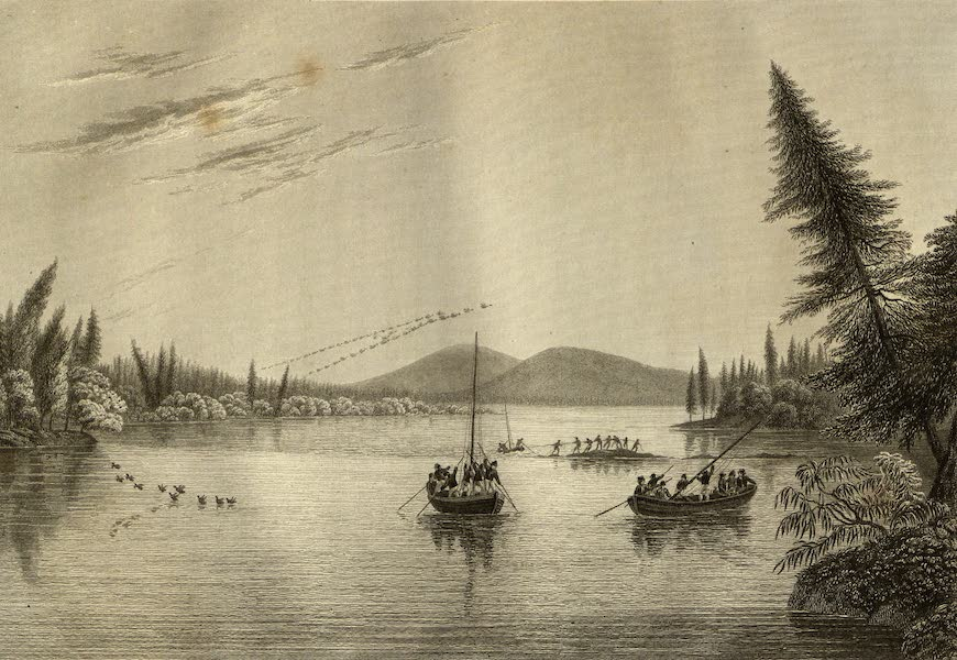 Narrative of a Journey to the Shores of the Polar Sea - View from Morgan's Rocks of the Hill in Hill River. Sept. 19, 1819 (1823)