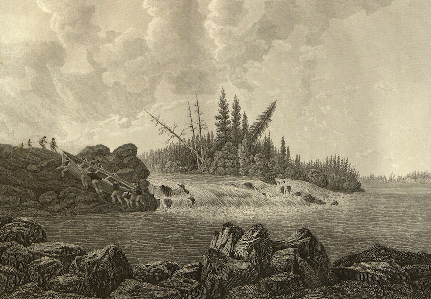 Narrative of a Journey to the Shores of the Polar Sea - The Trout Fall. Sept. 1819 (1823)