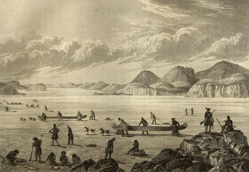 Narrative of a Journey to the Shores of the Polar Sea - Expedition Passing Through Point Lata on the Ice. June 25, 1821 (1823)