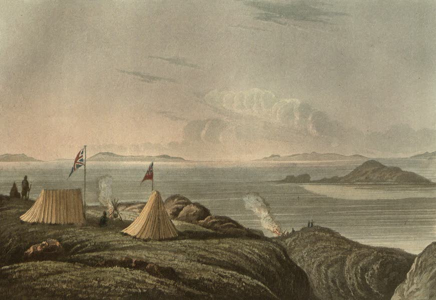 Narrative of a Journey to the Shores of the Polar Sea - View of the Arctic Sea from the Mouth of the Copper Mine River (1823)