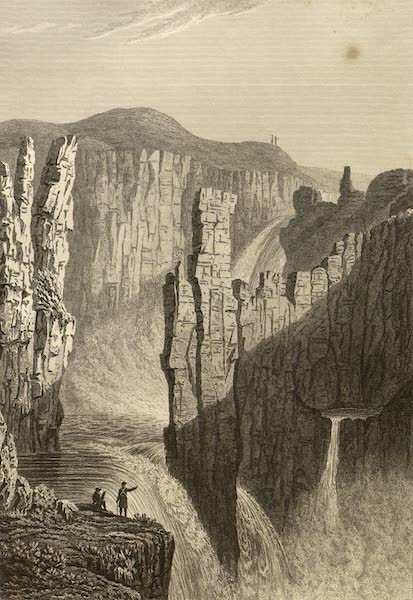 Narrative of a Journey to the Shores of the Polar Sea - The Falls of Wilberforce (estimated at 250 feet high) (1823)