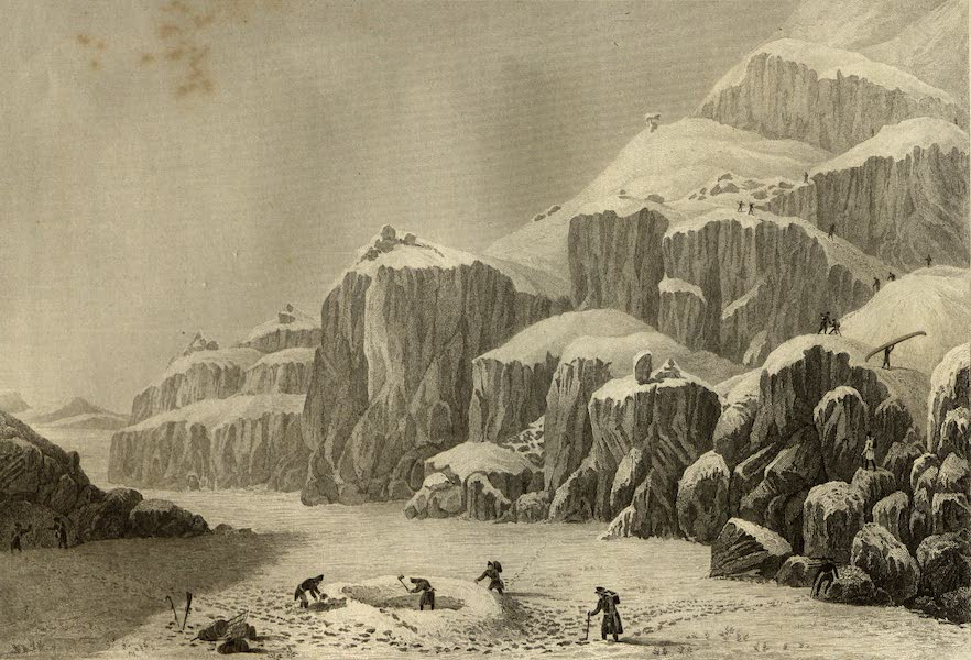 Narrative of a Journey to the Shores of the Polar Sea - Preparing an Encampment on the Barren Grounds Gathering Tripe de Roche. Sept. 16 (1823)