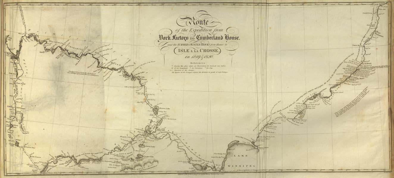 Narrative of a Journey to the Shores of the Polar Sea - Route of the Expedition from York Factory to Cumberland House (1823)