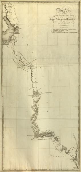 Narrative of a Journey to the Shores of the Polar Sea - Route of the Expedition from Isle a la Crosse to Fort Providence (1823)