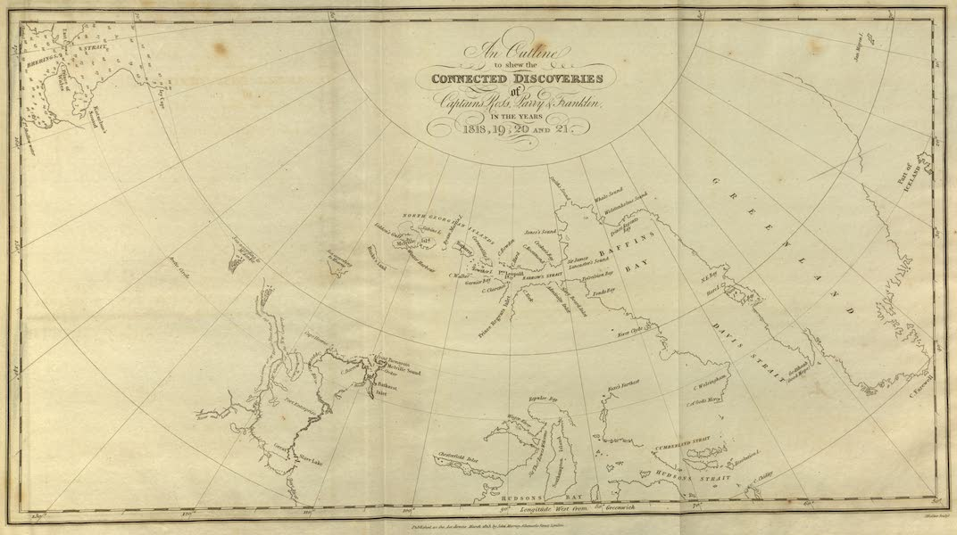 Narrative of a Journey to the Shores of the Polar Sea - An Outline to Shew the Connected Discoveries of Captains Ross, Parry and Franklin (1823)