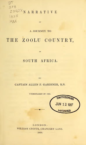 English - Narrative of a Journey to the Zoolu Country
