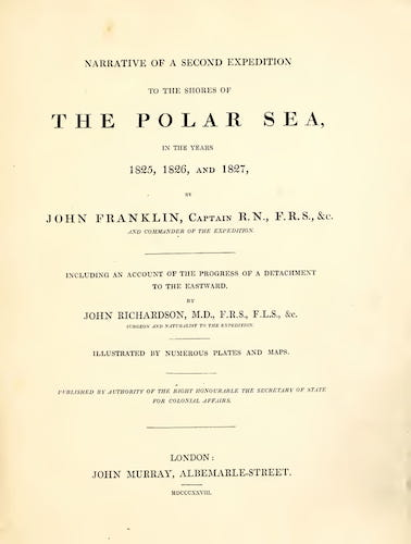 English - Narrative of a Second Expedition to the Shores of the Polar Sea