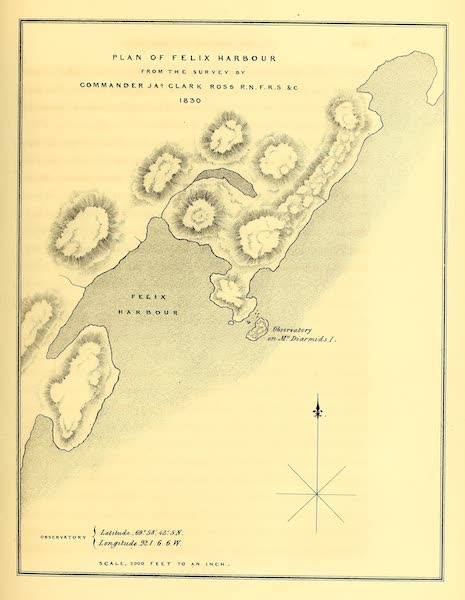 Narrative of a Second Voyage in Search of a North-West Passage Vol. 1 - Plan of Felix Harbour (1835)