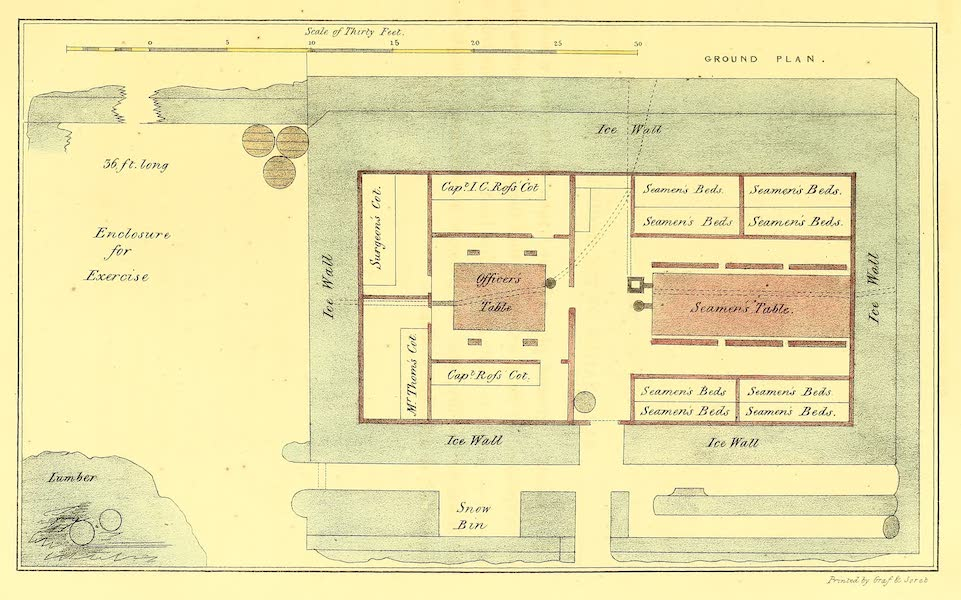 Narrative of a Second Voyage in Search of a North-West Passage Vol. 1 - Layout of Somerset House (1835)