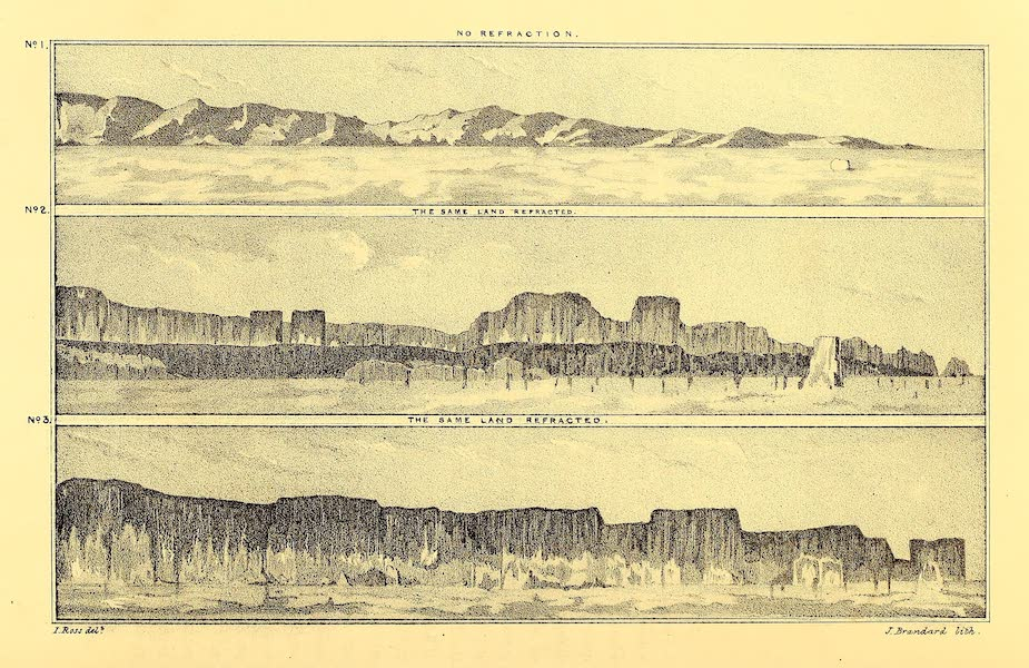 Narrative of a Second Voyage in Search of a North-West Passage Vol. 2 - Land and Refraction Diagram (1835)